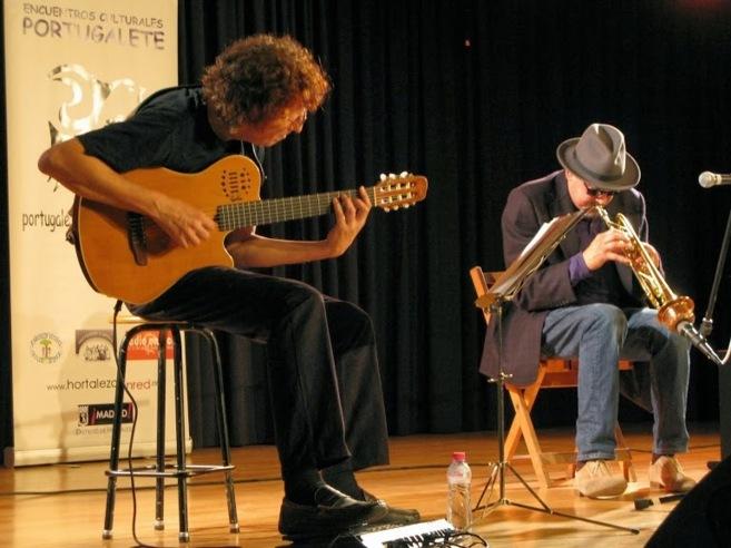 Jerry González, durante una actuación en los Encuentros Portugalete.