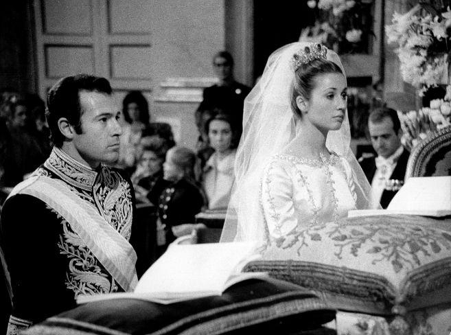 Alfonso de Borbón y Dampierre en su boda con Carmen Martínez Bordiú