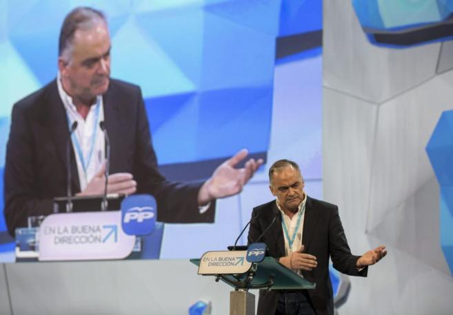 Esteban González Pons, durante su intervención en la Convención del...