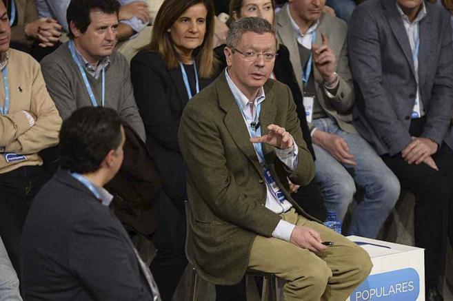 Alberto Ruiz Gallardón, en la Convención Nacional del PP.