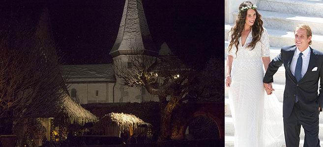 La iglesia, este sábado. Andrea y Tatiana, en la boda del pasado...