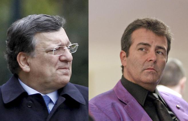 Jose Manuel Durão Barroso y el economista Xavier Sala- i Martín.