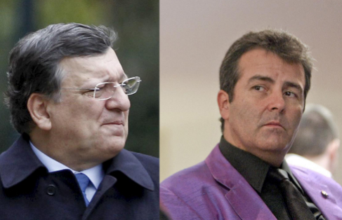 Jose Manuel Durão Barroso y  Xavier Sala- i Martín.