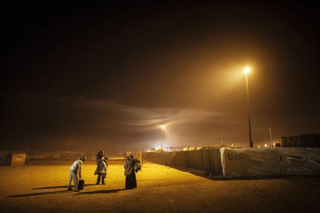 Refugiados sirios en el campamento de Zaatari (Jordania).
