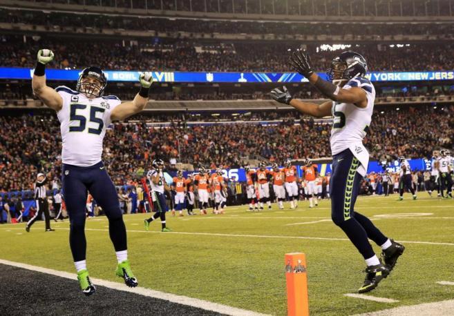 Los Seahawks celebran su victoria en la Super Bowl