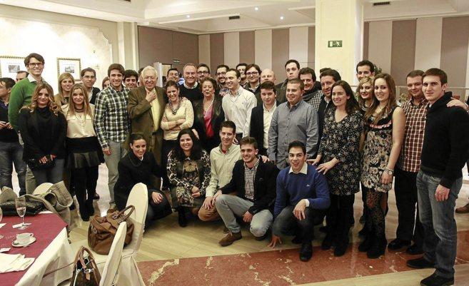 Margallo, Fabra y Barberá, el sábado tras la cena, con miembros de...