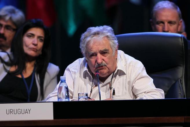 El presidente uruguayo, José Mujica, en la reciente cumbre de la...