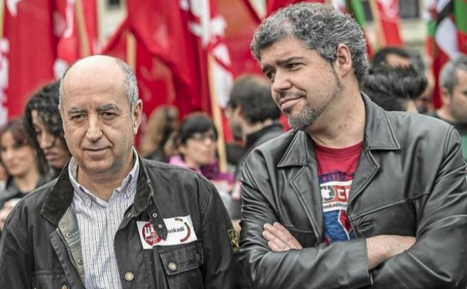 Lossecretarios generales de UGT Euskadi y CCOO Euskadi, Raúl Arza y...