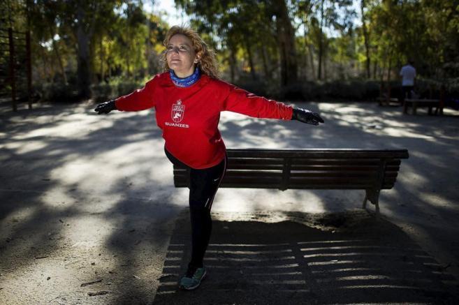 Chadia sale a correr a menudo en un parque cercano a su casa.