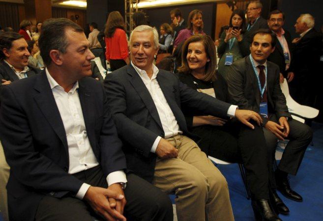 José Luis Sanz, Javier Arenas, Fátima Báñez y José Antonio Nieto,...