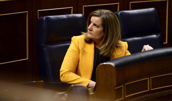 La ministra de Empleo, Fátima Báñez, durante una reciente...