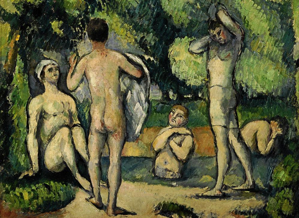 'Bañistas', de Paul Cézanne