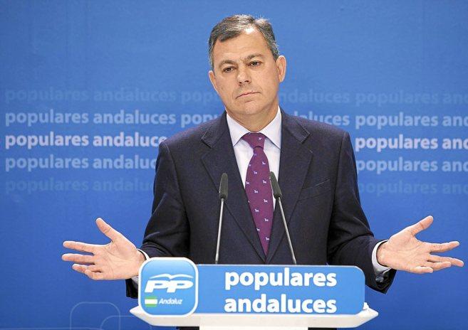 José Luis Sanz, durante una comparecencia ante los medios de...