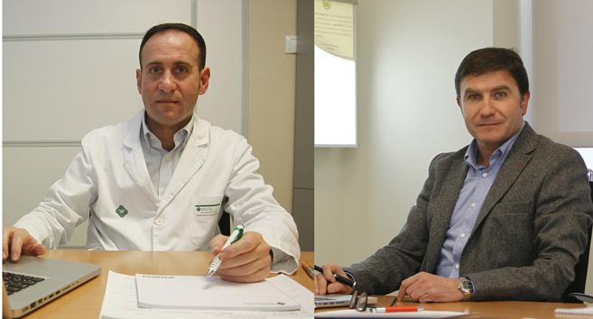 Los especialistas Javier Maravall, endocrinólogo, y Miguel Ibáñez,...