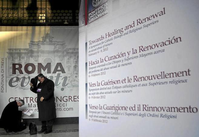 Participantes en el I Congreso sobre Pederastia, organizado por la...
