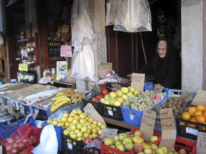 Una tienda de comestibles en Ponte de Lima.