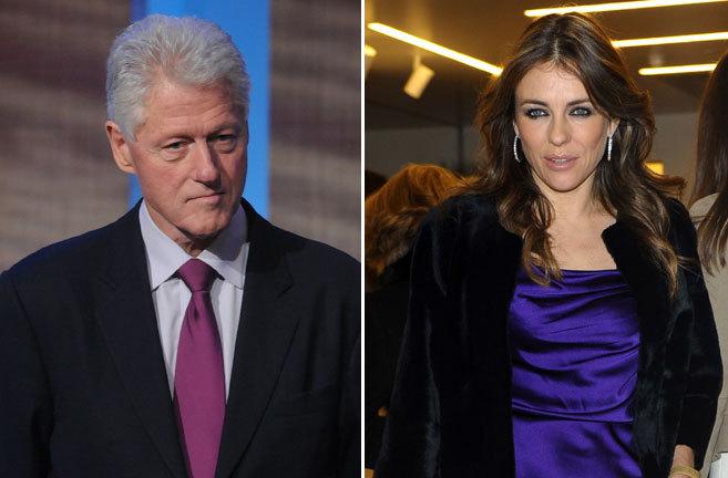 El ex presidente de Estados Unidos Bill Clinton (i) y la actriz Liz...