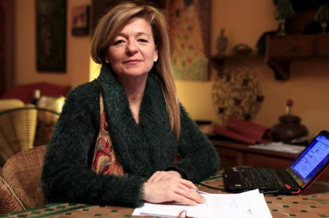 Ana Garrido, este miércoles en su domicilio tras conocer la...