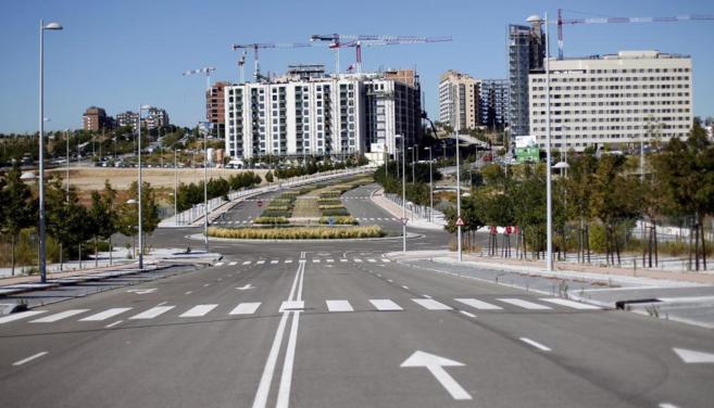 Promociones residenciales en construcción en Valdebebas (Madrid) el...