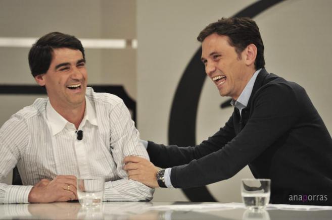Jesulín y Marco Rocha, ayer, en el programa '68 pasos'.