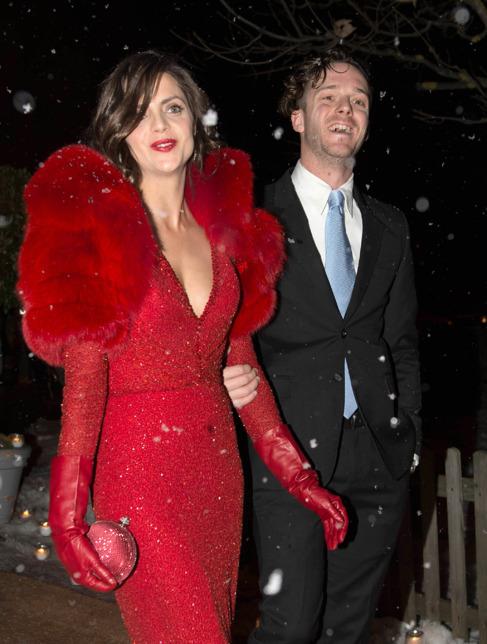 La actriz y su marido, en la boda de Andrea Casiraghi.