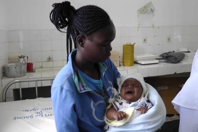 Centro de atención sanitaria en Mozambique.