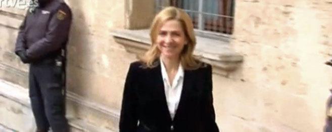 La Infanta Cristina a su llegada a los Juzgados.