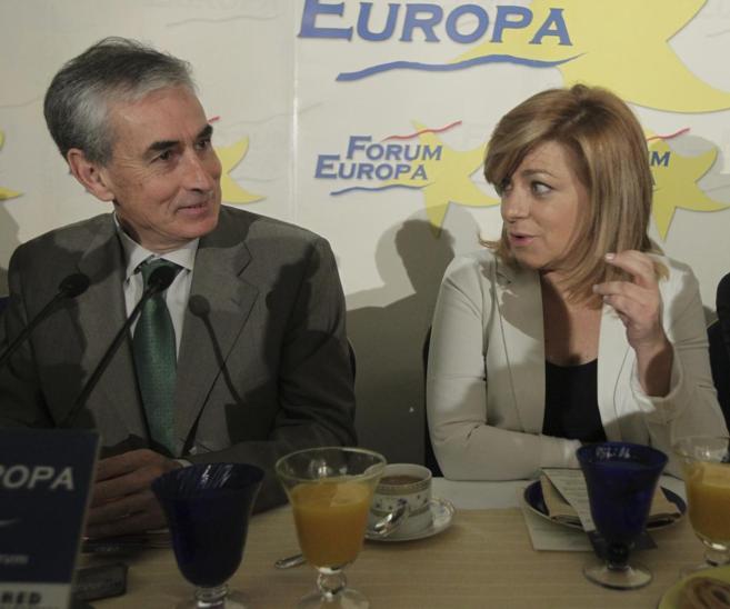 Ramón Jáuregui y Elena Valenciano, en un acto en julio de 2013.
