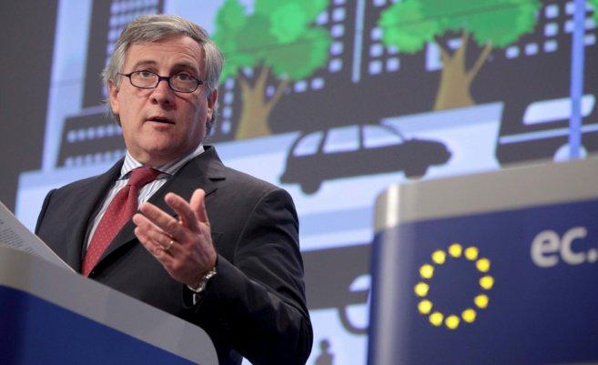 El vicepresidente de la Comisión Europea y comisario de Industria y...