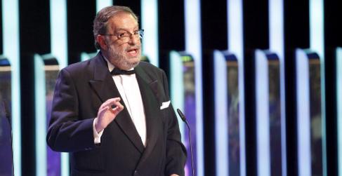 Enrique González Macho, presidente de la Academia de Cine, durante la...