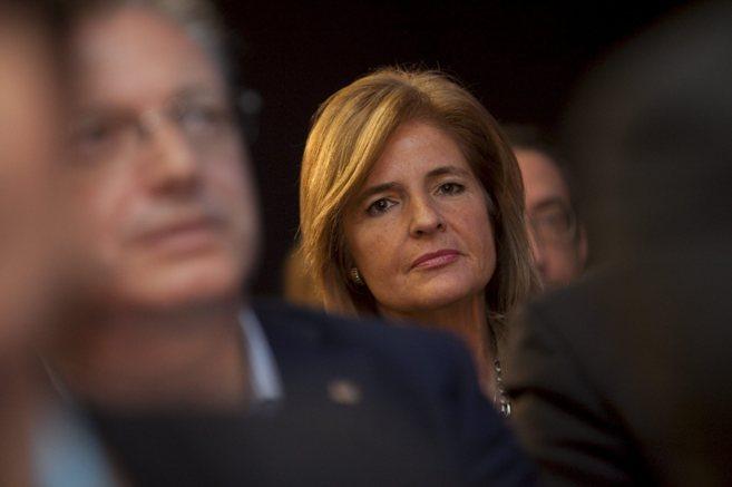 La alcaldesa de Fuengirola, Esperanza Oña, en un acto del PP andaluz...