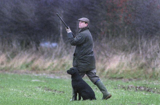 El príncipe Guillermo cazando, en una imagen de archivo.