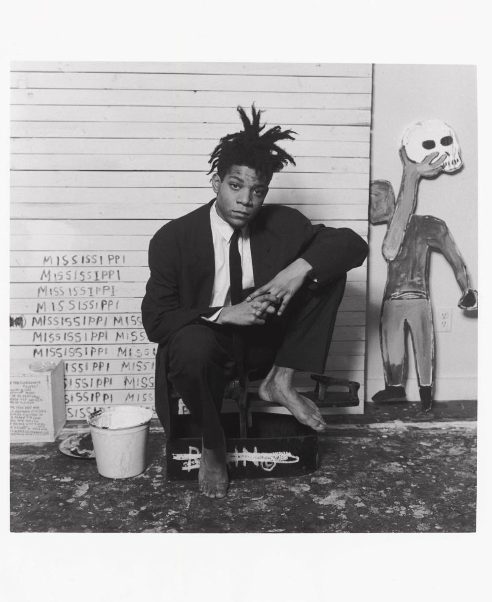 El artista Jean-Michel Basquiat.