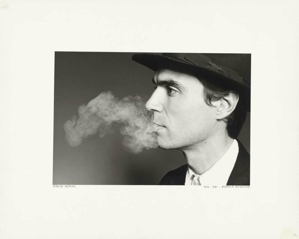 El cantante David Byrne, en los 80.