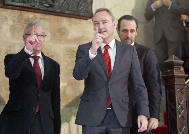 Fabra junto a los presidente de Murcia y Baleares en el encuentro del...