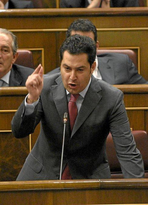 Juan Manuel Moreno Bonilla, en una sesión del control en el Congreso