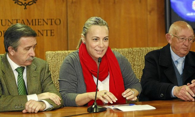 La alcaldesa de Alicante, Sonia Castedo, durante una presentación en...