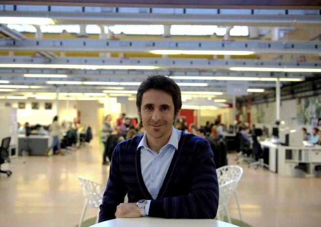 Lucas Carné, presidente ejecutivo de Privalia, en las instalaciones...