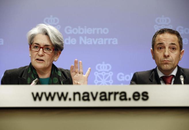 La vicepresidenta navarra y consejera de Economía, Lourdes...