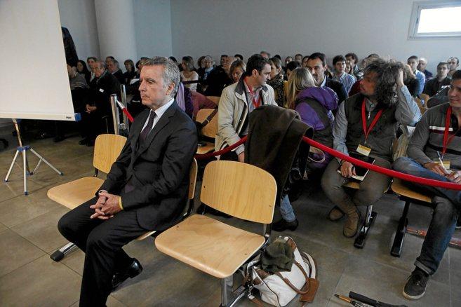 José Ortega Cano, durante una de las sesiones del juicio por el...