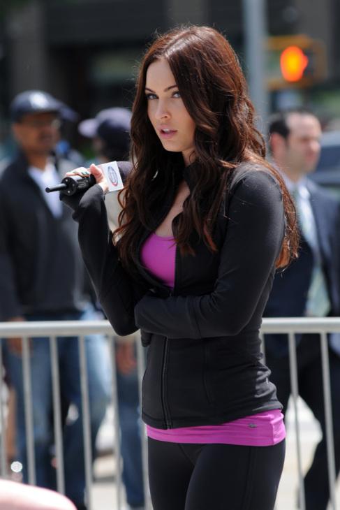 La actriz, en el rodaje de su última película.