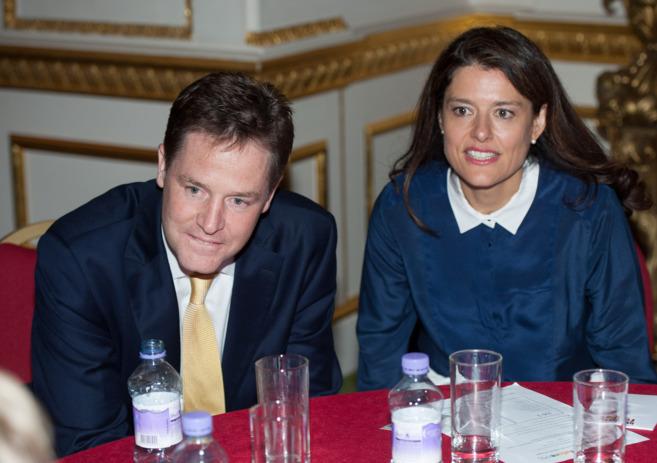 Nick Clegg y su mujer, Miriam González, en una imagen de archivo.
