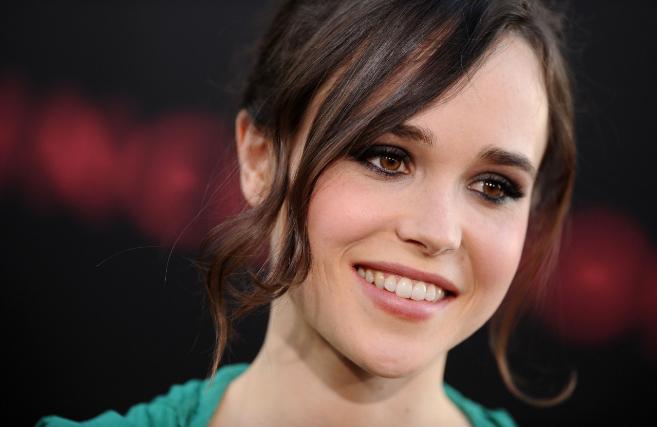 La actriz Ellen Page en el estreno de la película...