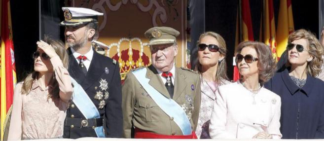 """Imágen del """"núcleo"""" de la Familia Real."""