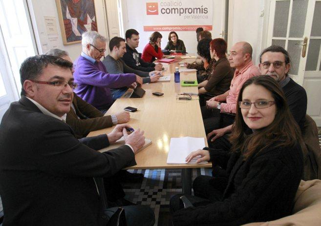 Reunión de la ejecutiva de Compromís en la que se elaboró el...