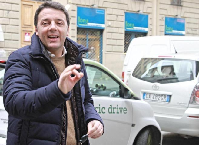 El alcalde de Florencia, este domingo, en la capital toscana.