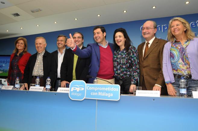 Moreno Bonilla, con Bendodo, Del Cid, y varios alcaldes del PP de...