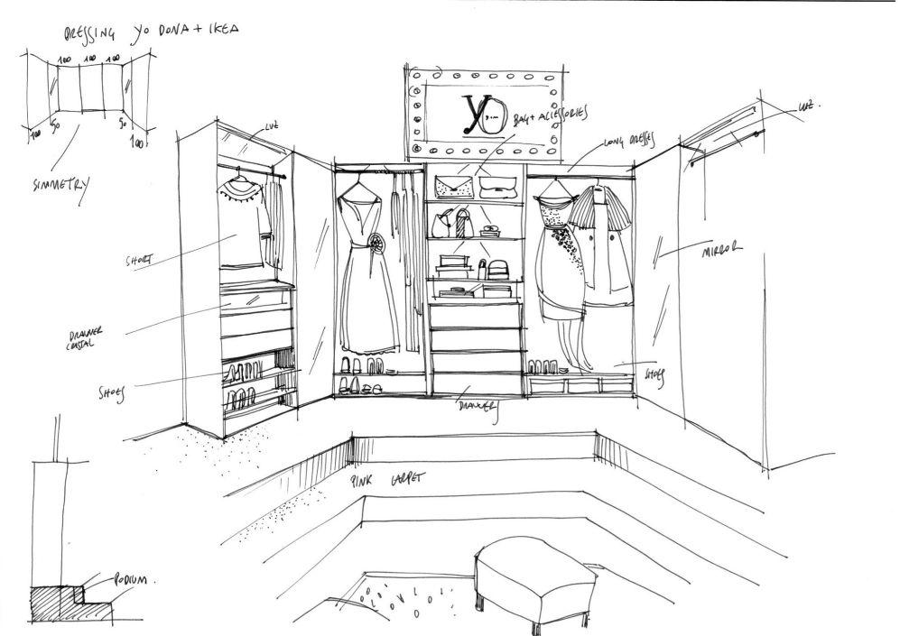 Este armario de Ikea podría estar en cualquier habitación de una fashionista. Sin embargo, durante unos días será en el más exclusivo del país. Ubicado en el stand de YO DONA, sin duda el lugar más animado del Cibelespacio, hasta él se acercarán Devota & Lomba, Ángel Schlesser, Juanjo Oliva y Agatha Ruiz de la Prada para presentar varias prendas de su colección primavera-verano 2014. Durante la jornada del Samsung EGO, Leandro Cano -primer ganador del concurso Innovation Project- hará lo mismo con sus propuestas de otoño-invierno.