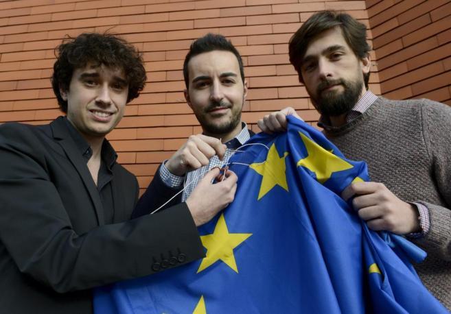 Javier García Toni, Vicente Rodrigo y Adrián Vázquez.