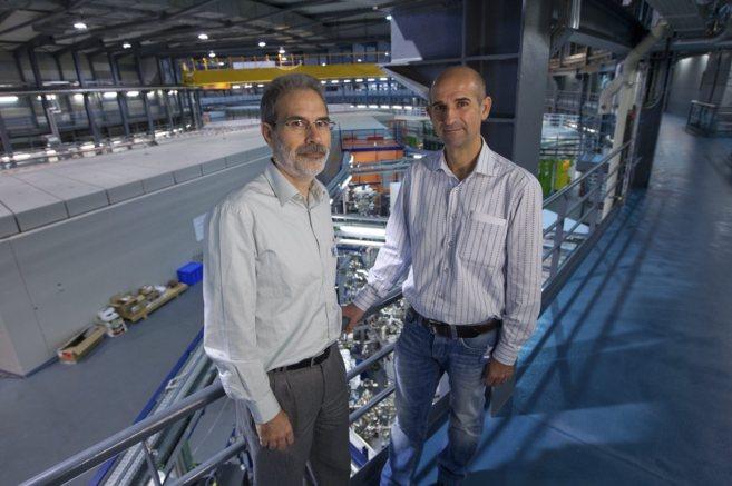 Alejandro Sánchez y Miguel Ángel Aranda, en las instalaciones del...